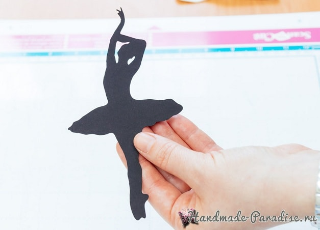 Панно handmade с силуэтом балерины (7)