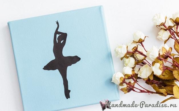 Панно handmade с силуэтом балерины (9)