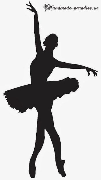 Панно handmade с силуэтом балерины