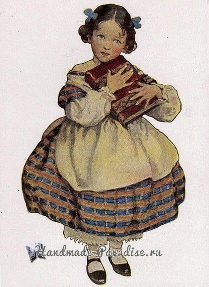 Винтажные открытки. Схемы вышивки крестом (1)