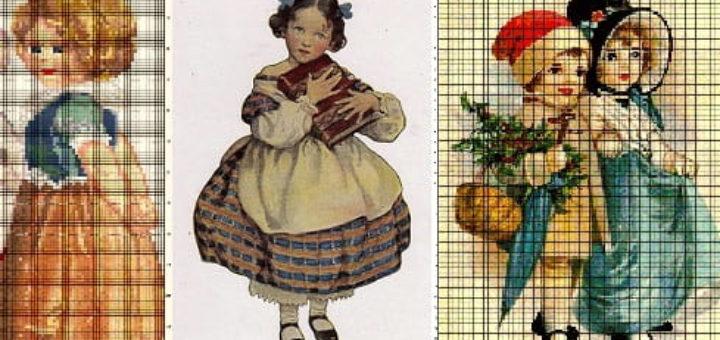 Винтажные открытки. Схемы вышивки крестом (2)