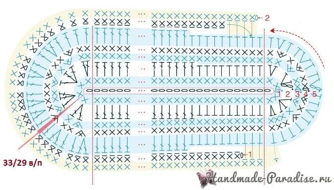 Вязание крючком тапочек. Схемы (7)