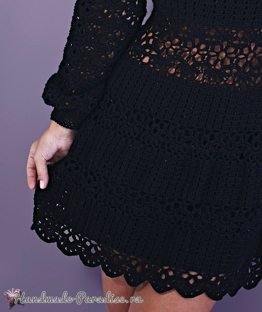 Вязаное платье своими руками. Выбор и уход (4)