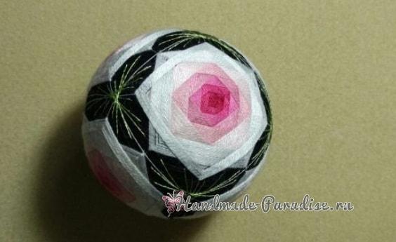 Японские шары темари с розами