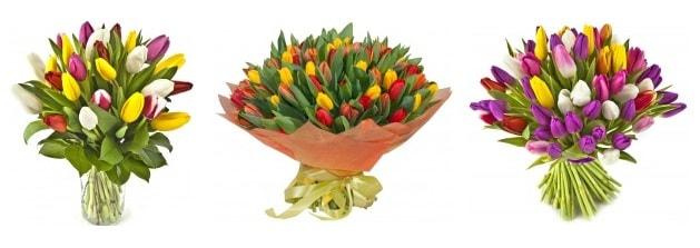 7 способов подарить тюльпаны
