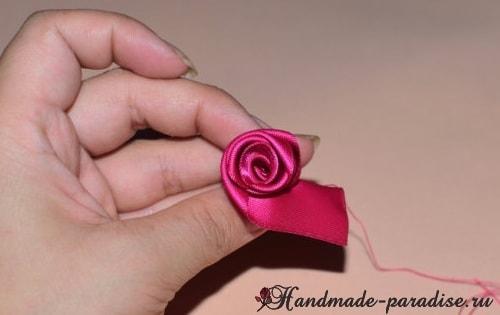 Мастер-класс - розы из лент (2)