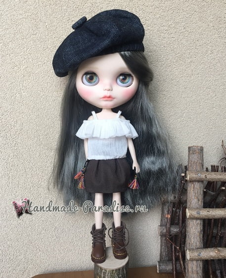 Как сшить кожаные ботинки и сумочку для куклы (1)