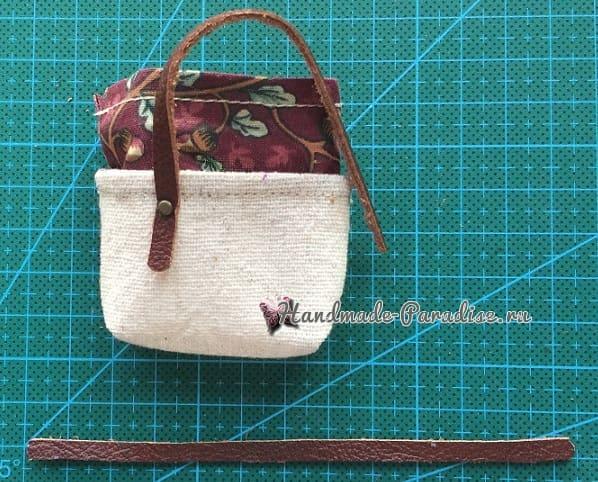 Как сшить кожаные ботинки и сумочку для куклы (11)