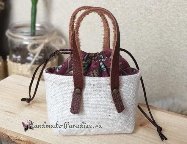 Как сшить кожаные ботинки и сумочку для куклы (12)