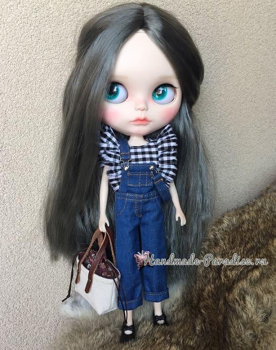 Как сшить кожаные ботинки и сумочку для куклы (2)