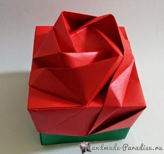 Коробочка РОЗА в технике оригами (1)
