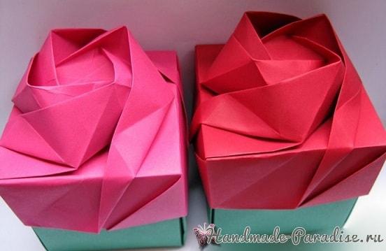 Коробочка РОЗА в технике оригами (2)