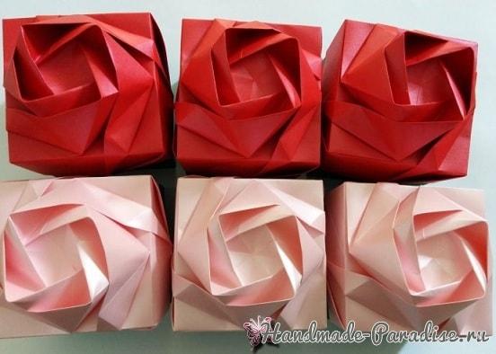 Коробочка РОЗА в технике оригами (3)