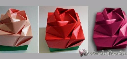 Коробочка РОЗА в технике оригами (4)
