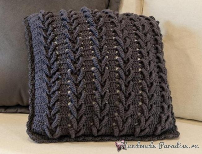 Очень красивая интерьерная подушка крючком (2)