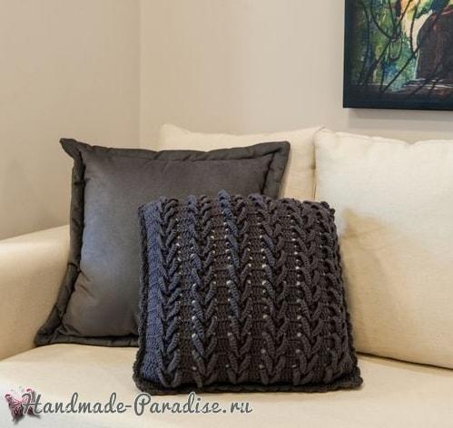 Очень красивая интерьерная подушка крючком (4)