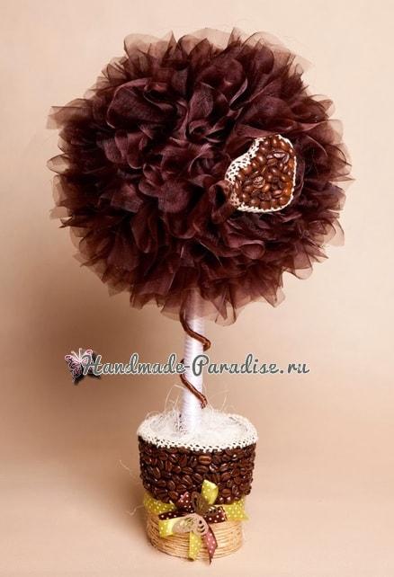 Валентинка из кофейных зерен и кофейный топиарий (1)