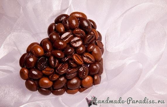 Валентинка из кофейных зерен и кофейный топиарий (4)