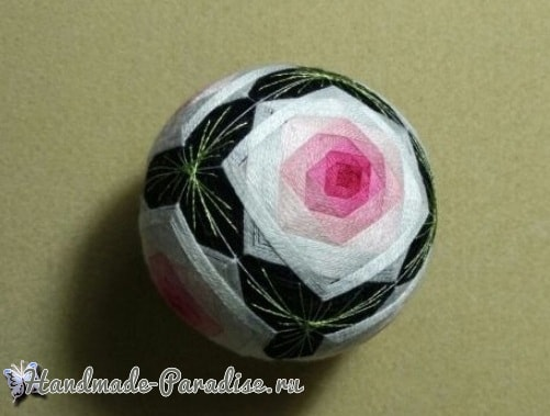 Японские шары темари с розами (1)