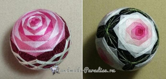 Японские шары темари с розами (3)