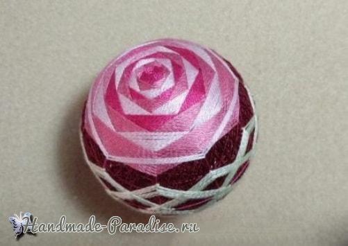Японские шары темари с розами (4)
