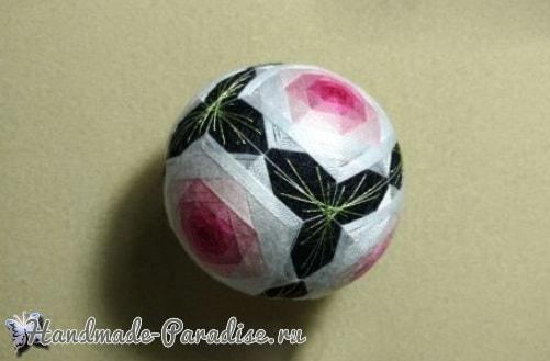 Японские шары темари с розами (5)