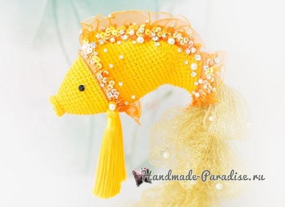 Золотая рыбка амигуруми. Вязание крючком (3)