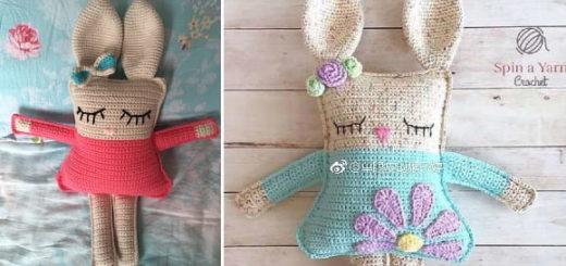 Кролик-сплюшка. Вяжем крючком игрушку-подушку (2)