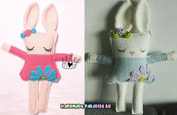 Кролик-сплюшка. Вяжем крючком игрушку-подушку (5)
