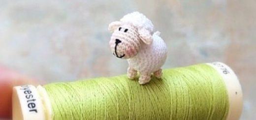 Маленький барашек амигуруми (2)