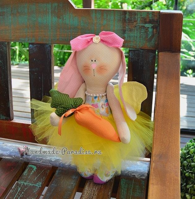 Текстильный Кролик Балерина. Выкройка (2)