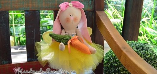 Текстильный Кролик Балерина. Выкройка (3)