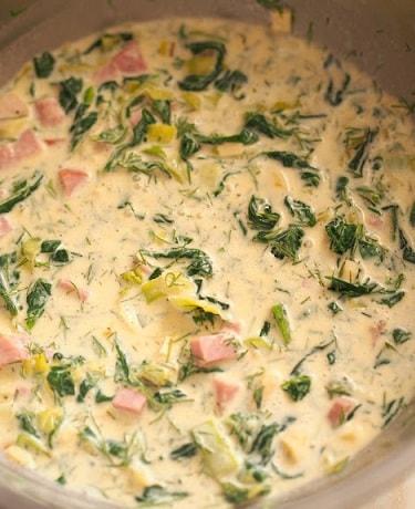 Весенний пасхальный тарт со шпинатом и яйцами (2)