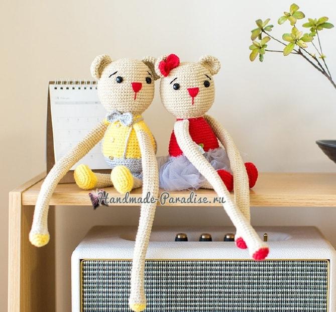 Вязаные мишки - подхваты для штор в детскую комнату (3)