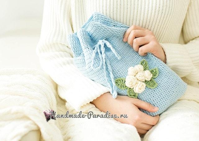 Вязаный чехол для грелки своими руками (3)