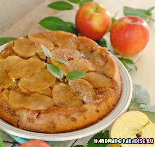 Яблочный пирог «Перевертыш». Рецепт (3)