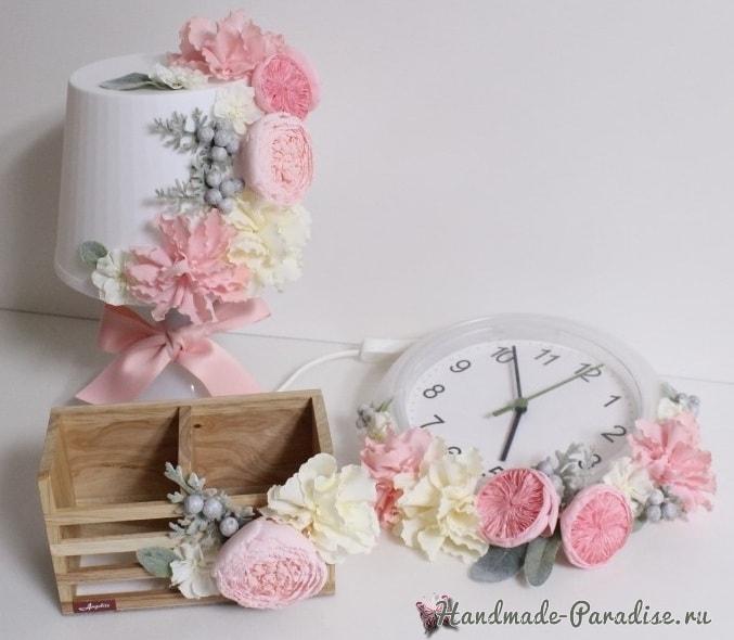 Английская роза Juliet Дэвида Остина из ткани (3)