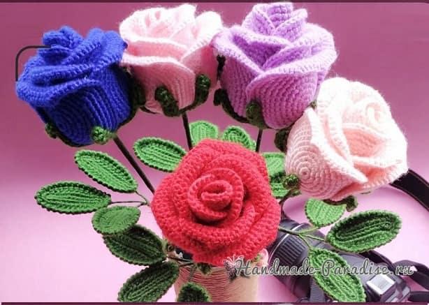 И снова розы крючком (1)