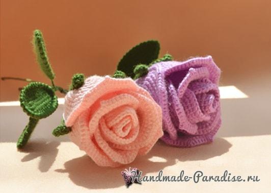 И снова розы крючком (2)