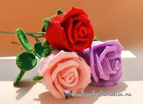 И снова розы крючком (3)