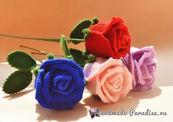 И снова розы крючком (4)