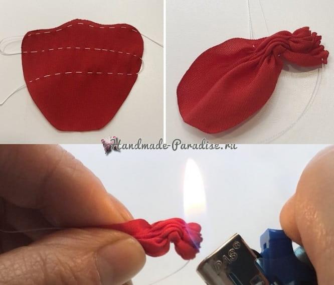 Красные маки из ткани (1)