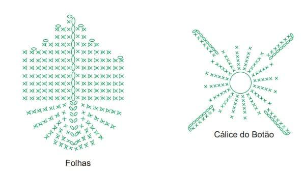 Круглый зеленый коврик с цветами (7)
