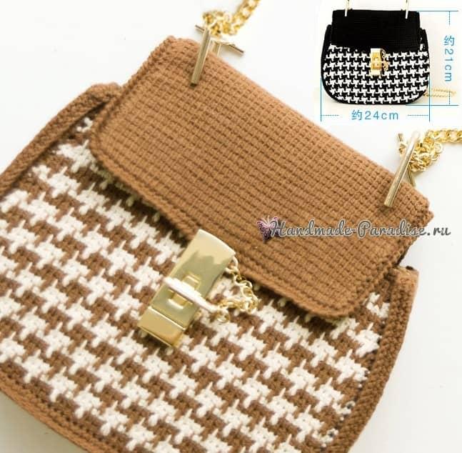 Модная сумка крючком. А-ля Dolce Gabbana (3)