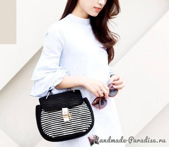 Модная сумка крючком. А-ля Dolce Gabbana (6)