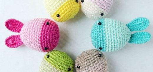 Пасхальные яйца-кролики крючком (1)