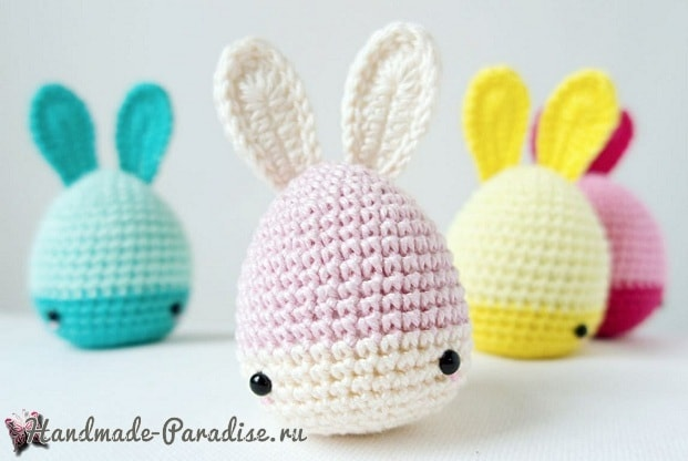 Пасхальные яйца-кролики крючком (2)