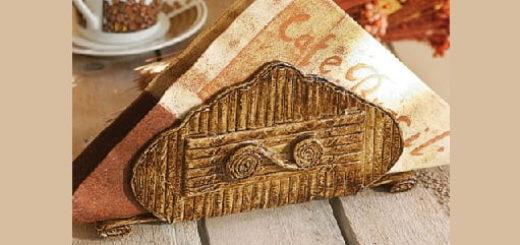 Плетение салфетницы из газетных трубочек (1)
