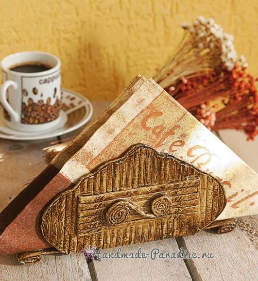 Плетение салфетницы из газетных трубочек (10)
