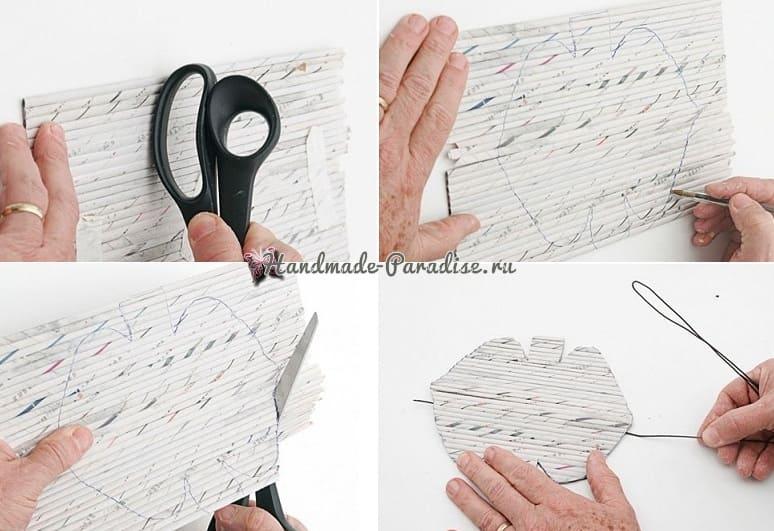Плетение салфетницы из газетных трубочек (4)